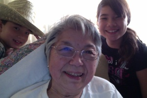The last picture taken with Grandma Kato & our kidsMarch, 2012